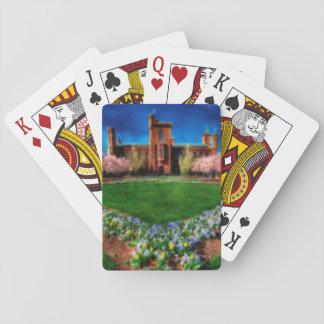 Smithsonian-Schloss-Garten-Kirschblüten Spielkarten