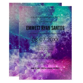 Smokey Galaxie-Abschluss-Party laden ein Karte