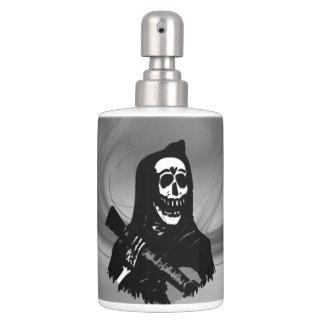 Smokey GitarreSkeleton Serenade Seifenspender & Zahnbürstenhalter