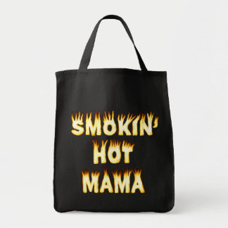 Smokin heiße Mutter Funny Mother Flames Tragetasche