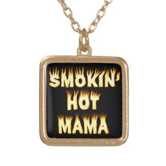 Smokin heiße Mutter Funny Mother Flames Vergoldete Kette