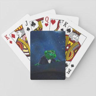 Smokings-Frosch am Klavier #1 Spielkarten