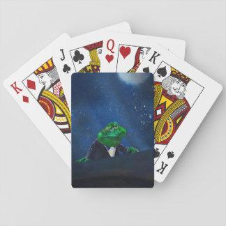 Smokings-Frosch am Klavier #2 Spielkarten