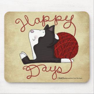 Smokings-Katzen-glückliche Tage Mousepad