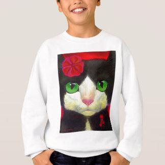 Smokings-Katzen-Produkte Sweatshirt