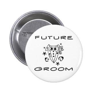 Smokings-zukünftiger Bräutigam Runder Button 5,7 Cm