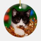 Smokingskätzchen Weihnachten Keramik Ornament
