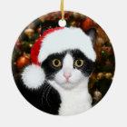 Smokingskatze Weihnachten Keramik Ornament