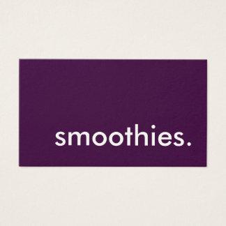 Smoothies. LoyalitätsLochkarte Visitenkarten