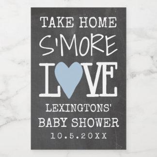 S'More Liebe-Baby-Duschen-Tafel-Blick zum Lebensmitteletikett