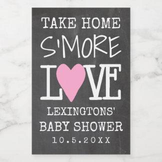 S'More Liebe-Mädchen-Baby-Dusche zum Mitnehmen Lebensmitteletikett
