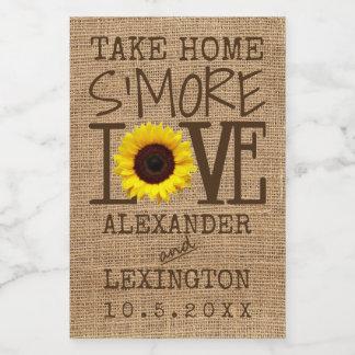 S'More Liebe-Sonnenblume zum Mitnehmen Lebensmitteletikett