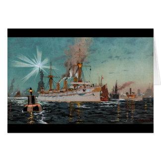 SMS Kaiserin Augusta, das New York durch Saltzmann Karte