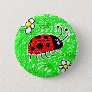 Smudgy Marienkäfer Runder Button 5,1 Cm