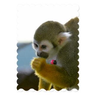 Snacking Eichhörnchen-Affe 12,7 X 17,8 Cm Einladungskarte