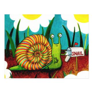 Snail- mailkarte postkarte