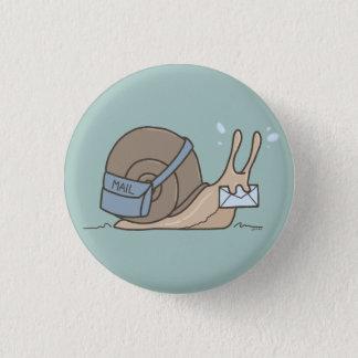 Snail- mailknopf runder button 3,2 cm