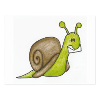 Snail- mailpostkarte postkarte