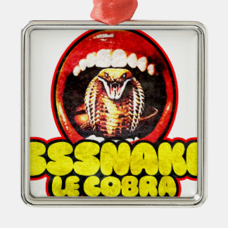 Snakes and Cobras Silbernes Ornament