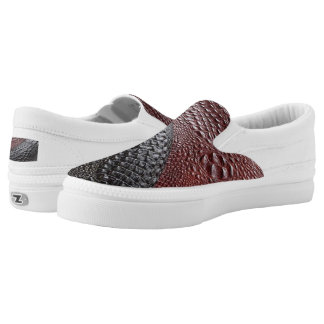 Snakeskin Beschaffenheit Slip-On Sneaker