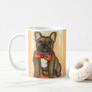 Snazzy brindle Tasse der französischen Bulldogge