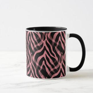 Snazzy Erdbeerrosazebra-Streifen-Druck Tasse