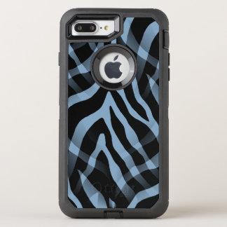 Snazzy Himmel-Blauzebra-Streifen-Druck OtterBox Defender iPhone 8 Plus/7 Plus Hülle