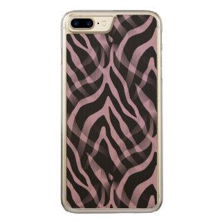 Snazzy Lavendellila Zebra-Streifen-Druck Carved iPhone 8 Plus/7 Plus Hülle