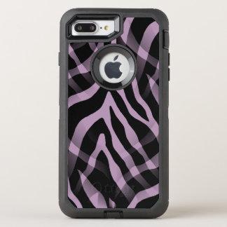 Snazzy Lavendellila Zebra-Streifen-Druck OtterBox Defender iPhone 8 Plus/7 Plus Hülle