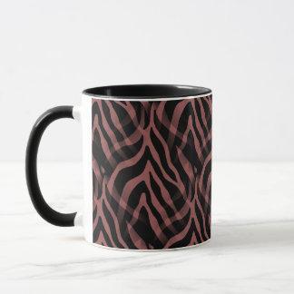 Snazzy Rotweinzebra-Streifen-Druck Tasse