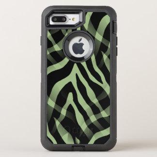 Snazzy weises Grünzebra-Streifen-Druck OtterBox Defender iPhone 8 Plus/7 Plus Hülle