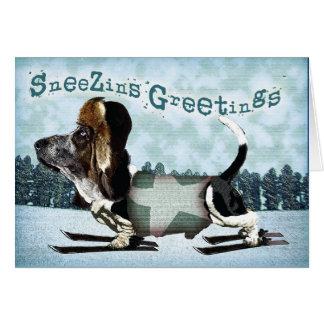 Sneezins Gruß-Dachshund-Weihnachten Karte