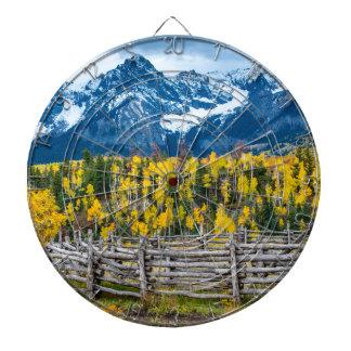 Sneffels Gebirgshürde im Fall - Colorado Dartscheibe