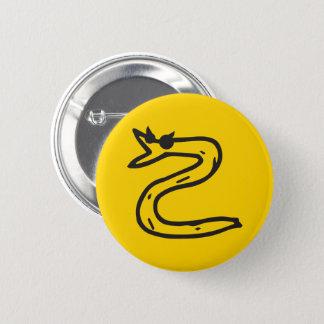 Snek Recht verlegen nicht auf mir Knopfgelb Runder Button 5,7 Cm