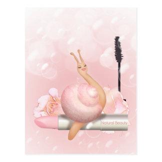 """Sneople """"natürliche Schönheit sprudelt"""" Schnecke Postkarte"""