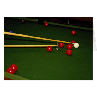 Snookerschuß Grußkarte