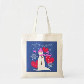 Snow=Happy Snowman-Tasche Tragetasche