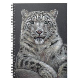 Snow Leopard - Schneeleopard Spiral Notizblock
