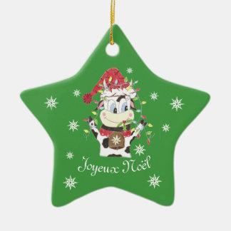 Snowbell die Kuhgrünstern Weihnachtsverzierung Keramik Ornament