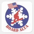Snowboard Alta Quadratischer Aufkleber