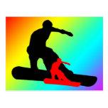 Snowboard: shadowstance postkarte