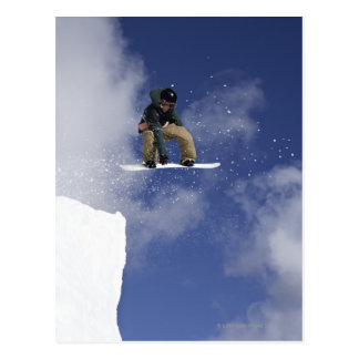 Snowboarder 2 postkarte
