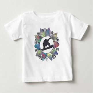 Snowboarder-GebirgsBlume Baby T-shirt