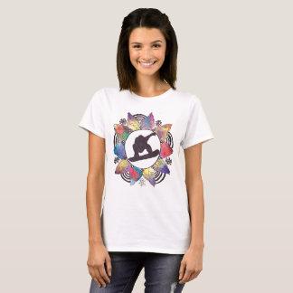 Snowboarder-GebirgsBlume T-Shirt
