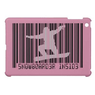 SNOWBOARDER INNERHALB des Barcodes iPad Mini Hülle