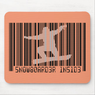 SNOWBOARDER INNERHALB des Barcodes Mousepad