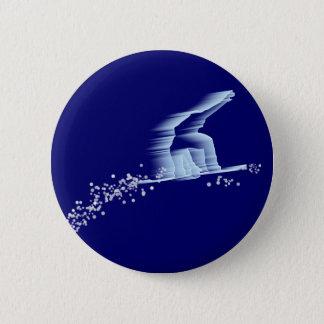 Snowboarder-Knopf Runder Button 5,7 Cm