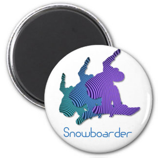 Snowboarder-Logo-Magnet Runder Magnet 5,7 Cm