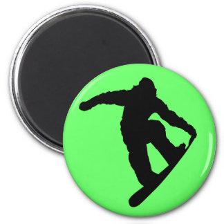Snowboarder Kühlschrankmagnete
