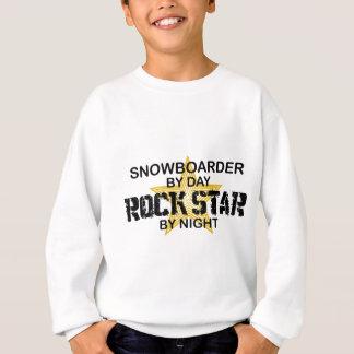 Snowboarder-Rockstar bis zum Nacht Sweatshirt